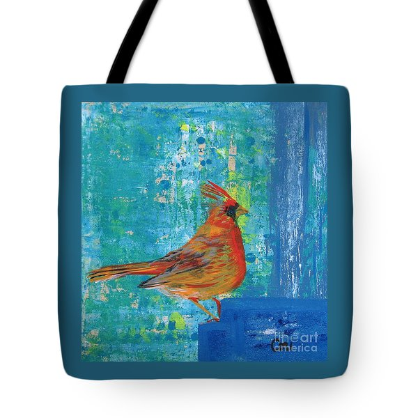 A Cardinal Came By Tote Bag