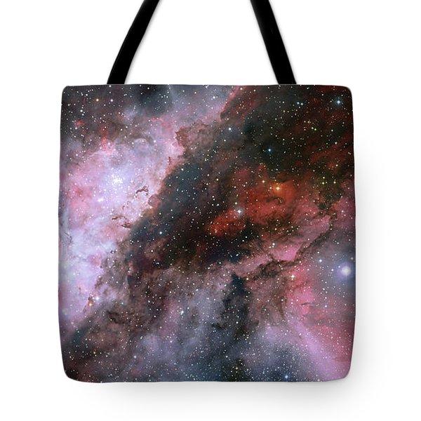 Tote Bag featuring the photograph A Carina Nebula Pano by Nasa