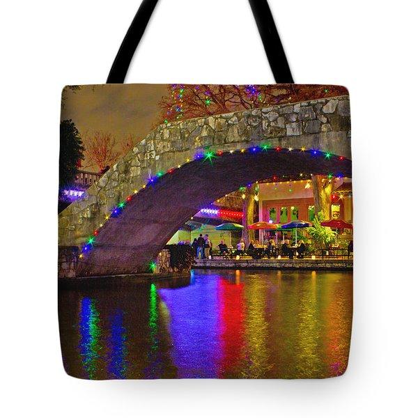 A Casa Rio Christmas On The Riverwalk Tote Bag