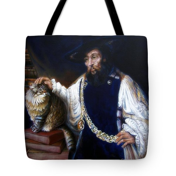A Cat For Rembrandt_ Aristotle Caresses Calliope Tote Bag