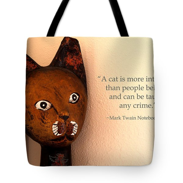 Tote Bag featuring the photograph A Cat Is More Intelligent by Beauty For God