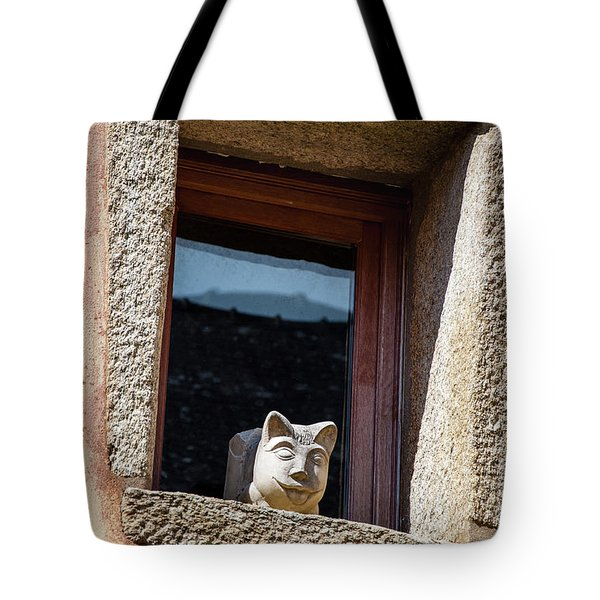 A Cat On Hot Bricks Tote Bag