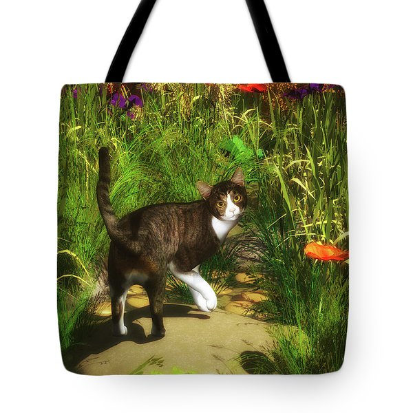 A Cat Turns Around Tote Bag