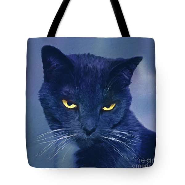 A Cat's Dark Night Tote Bag