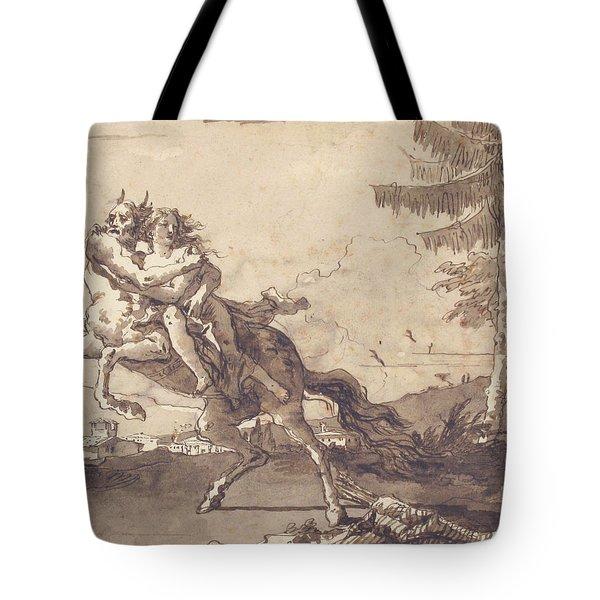 A Centaur Abducting A Nymph Tote Bag