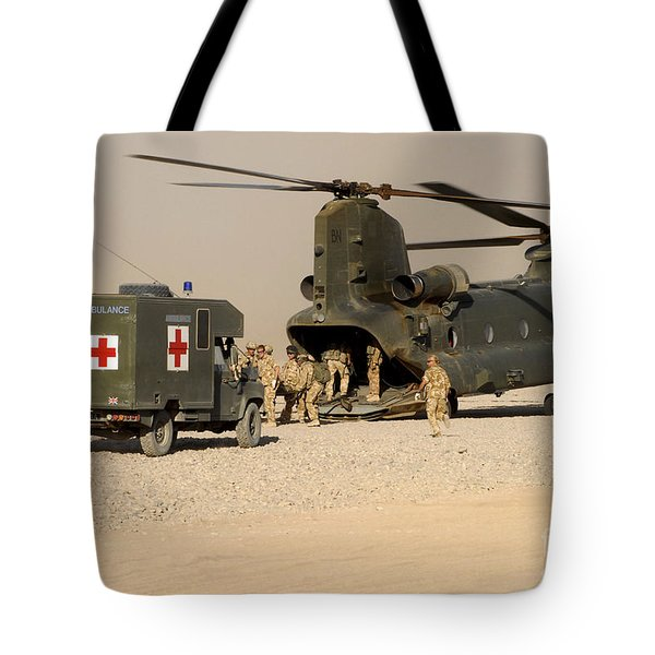 A Ch-47 Chinook Helicopter Drops Tote Bag by Andrew Chittock