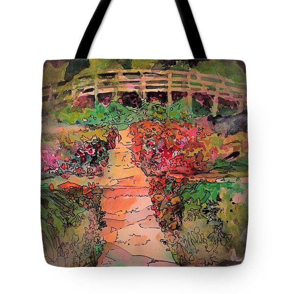 A Charming Path Tote Bag by Mindy Newman