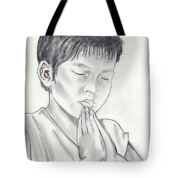 A Child's Prayer Tote Bag by John Keaton