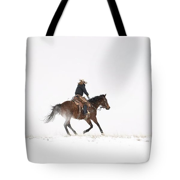 A Chilly Ride Tote Bag