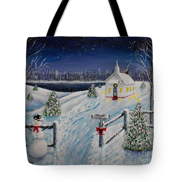 A Christmas Eve Tote Bag