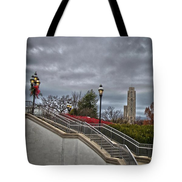 A Christmas View Tote Bag