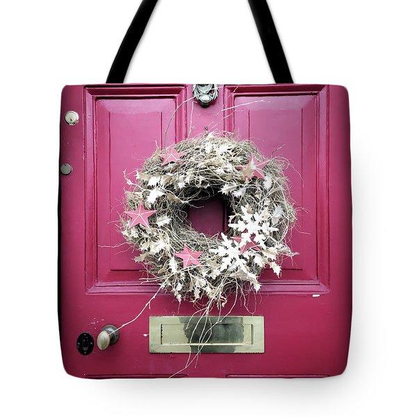 A Christmas Wreath Tote Bag