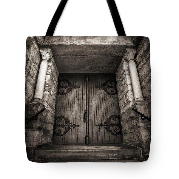 A Church Door Tote Bag