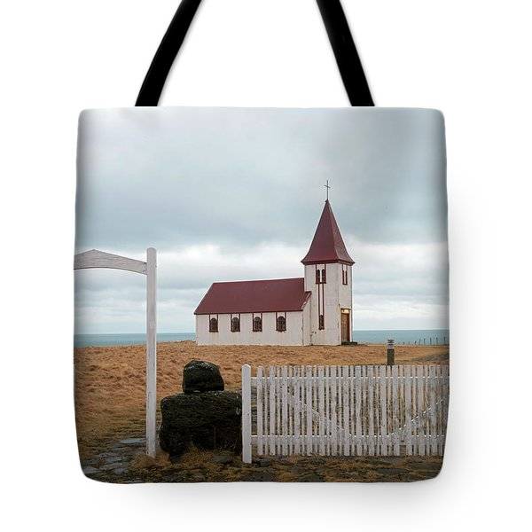 Tote Bag featuring the photograph A Church With No Fence by Dubi Roman