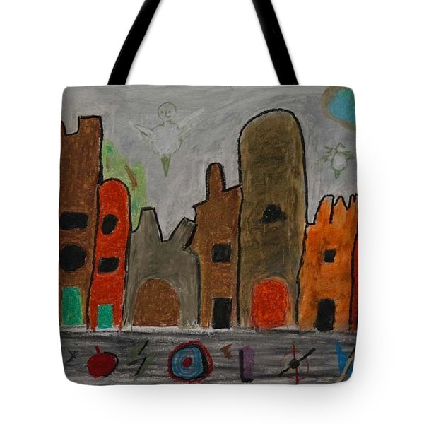 A Child's View Of Downtown Tote Bag by Harris Gulko