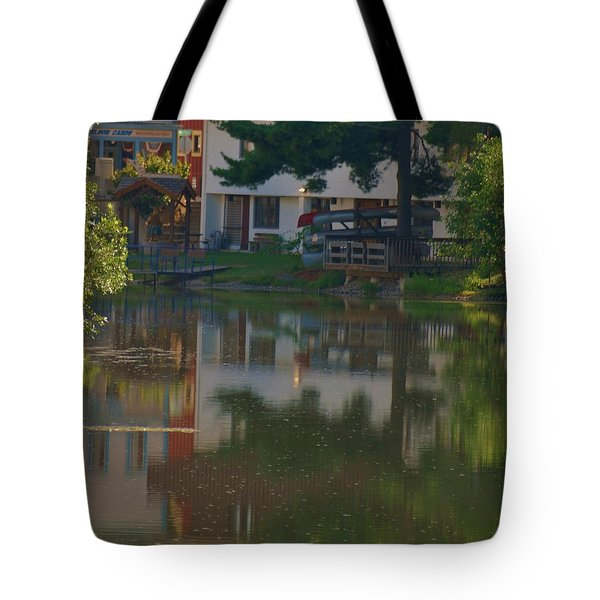 Tote Bag featuring the photograph A Cities Reflection by Ramona Whiteaker
