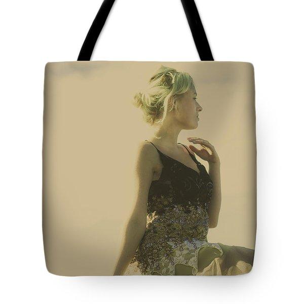 A Classical Beauty Portrait Tote Bag