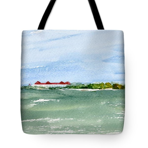 A Clear Day At Cape May Point  Tote Bag by Nancy Patterson