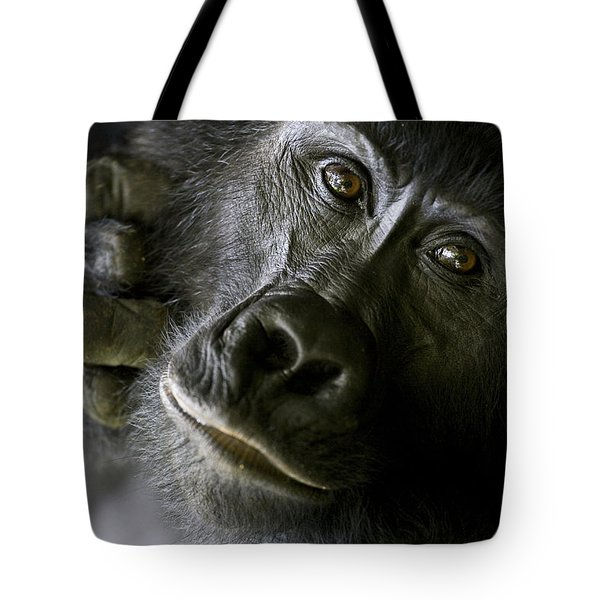 A Close Up Portrait Of A Mountain Tote Bag