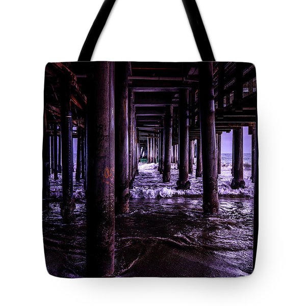 A Cloudy Day Under The Pier Tote Bag