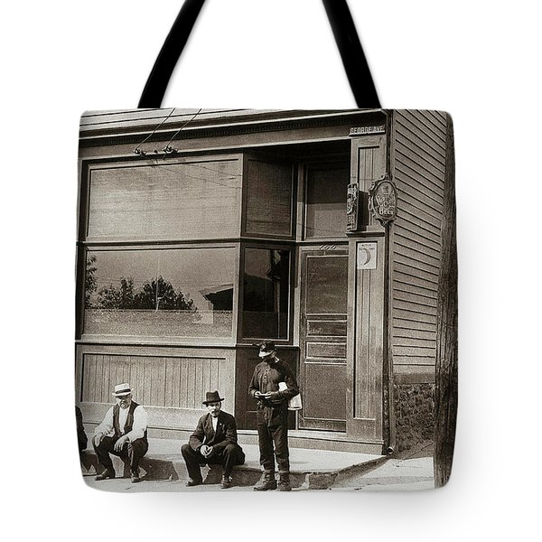 A Coal Miners Bar  George Ave Parsons Pennsylvania Early 1900s Tote Bag