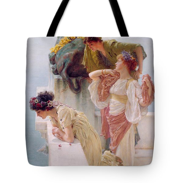 A Coign Of Vantage Tote Bag by Sir Lawrence Alma-Tadema