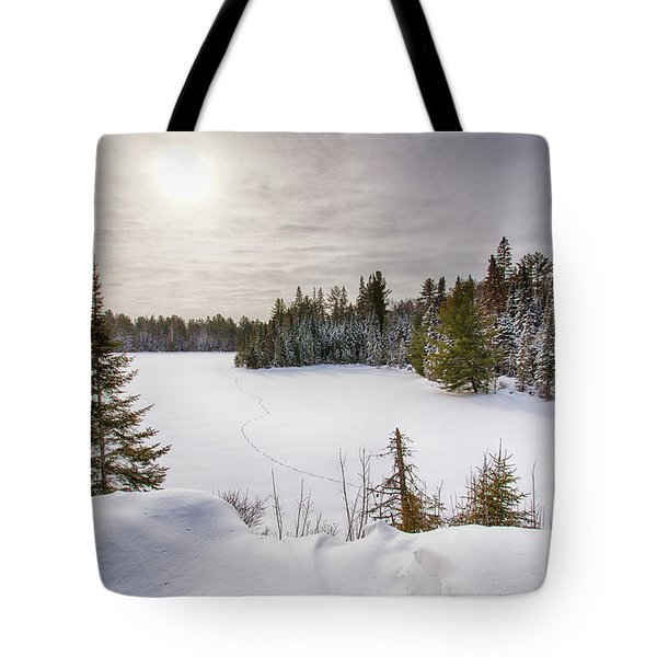 A Cold Algonquin Winters Days  Tote Bag