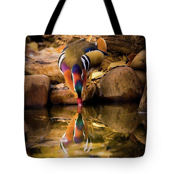A Cold Drink - Mandarin Drake Tote Bag