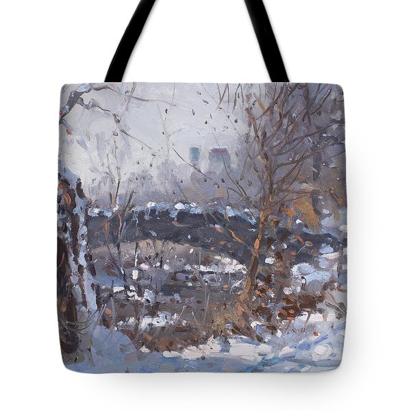 A Cold Sunny Day At Three Sisters Islands Tote Bag