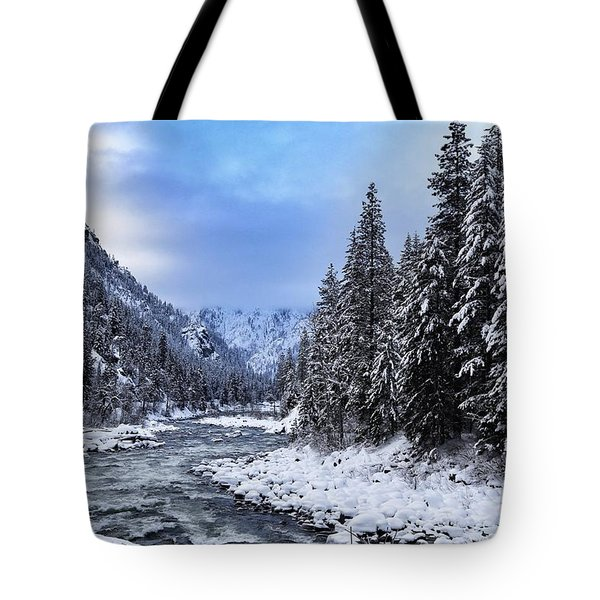 A Cold Winter Day  Tote Bag