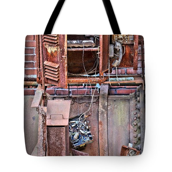 Tote Bag featuring the photograph A Collaboration Of Rust by DJ Florek