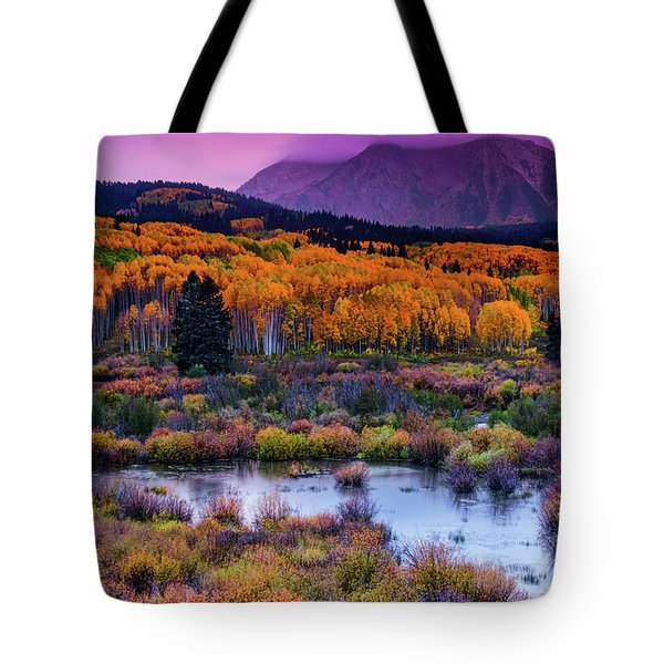 A Colorado Fall Along Kebler Pass Tote Bag