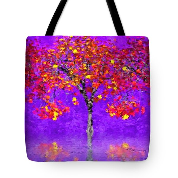 A Colorful Autumn Rainy Day Tote Bag by Gabriella Weninger - David