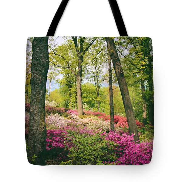 A Colorful Hillside Tote Bag by Jessica Jenney