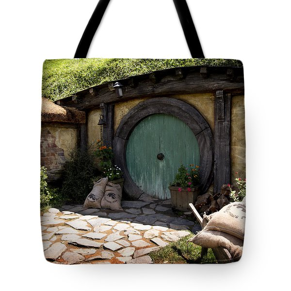 A Colorful Hobbit Home Tote Bag