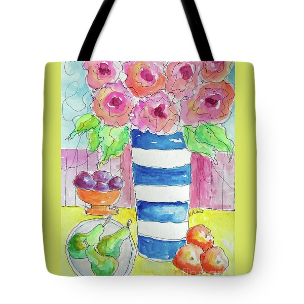 Tote Bag featuring the painting Fruit Salad by Rosemary Aubut