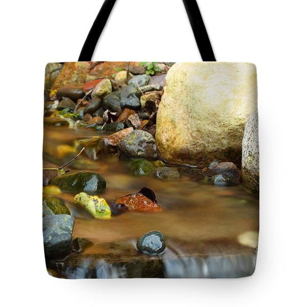 A Colorful Stream Tote Bag