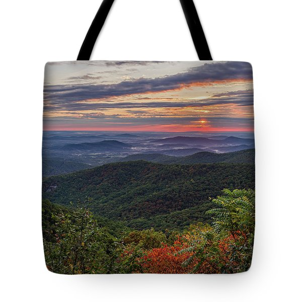 Tote Bag featuring the photograph A Colorful Sunrise by Lori Coleman