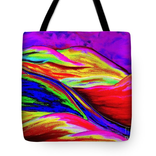 A Colorful World Tote Bag by Annie Zeno