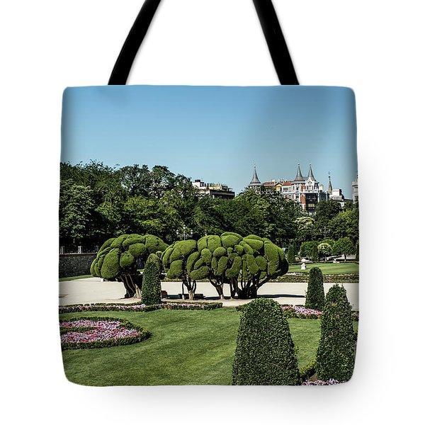 Colorfull El Retiro Park Tote Bag