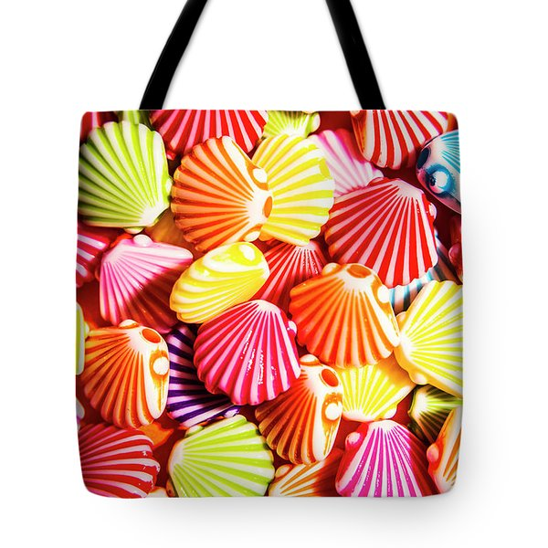 A Colourful Beach Background Tote Bag