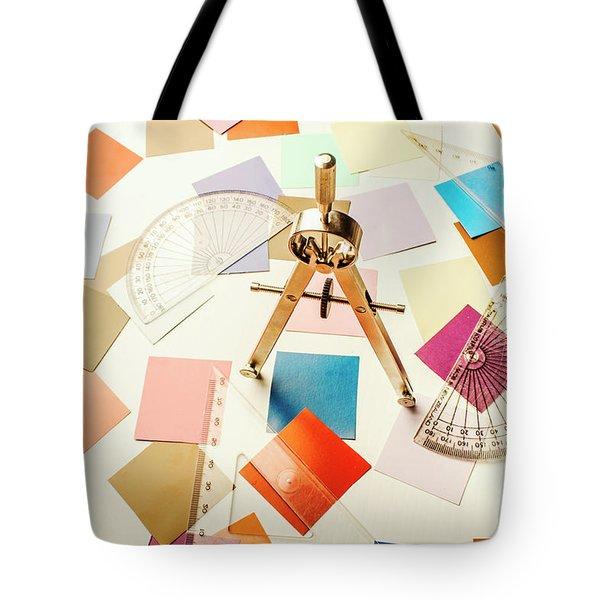 A Colourful Blueprint Tote Bag