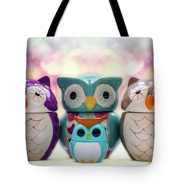 A Colourful Parliament Of Owls Tote Bag