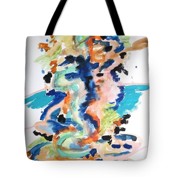 Tote Bag featuring the painting A Confusion Of Impressions by Esther Newman-Cohen