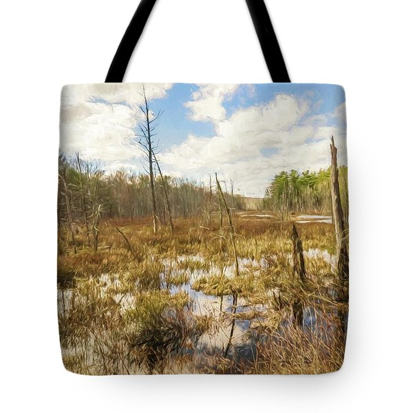 A Connecticut Marsh Tote Bag