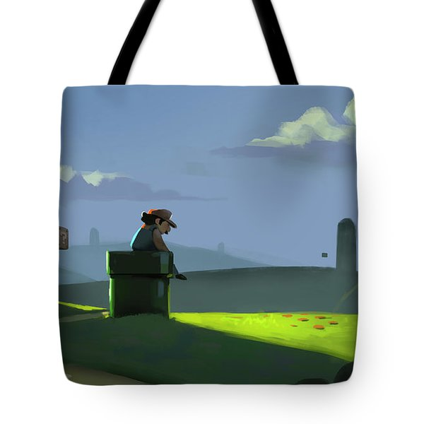 A Contemplative Plumber Tote Bag