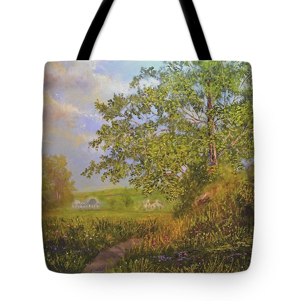 A Country Walk In Bristal Tote Bag