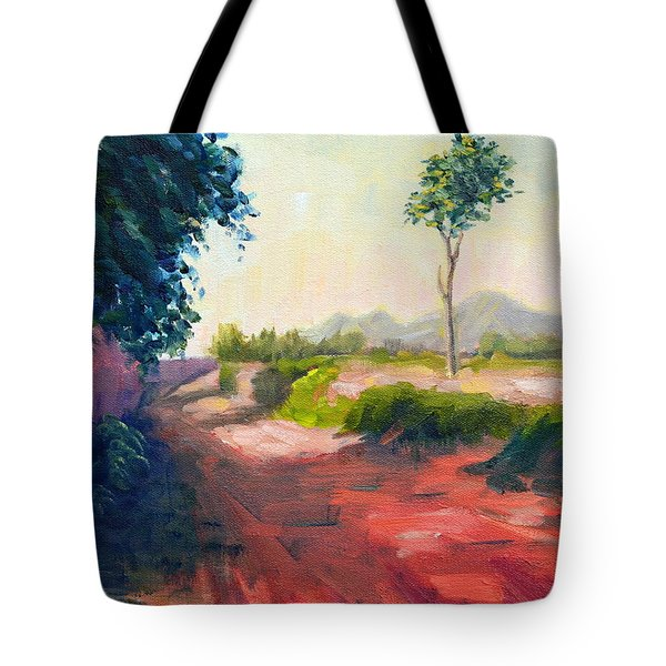 A Countryside Road Tote Bag
