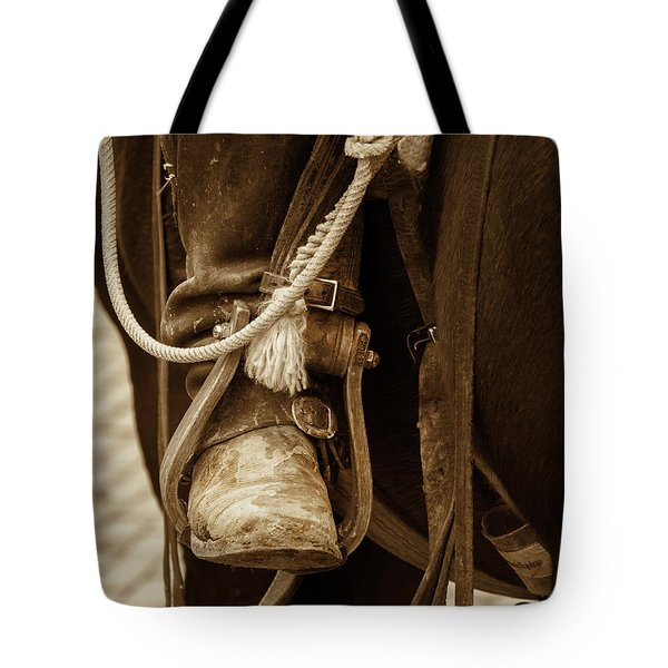 A Cowboy's Boot Tote Bag