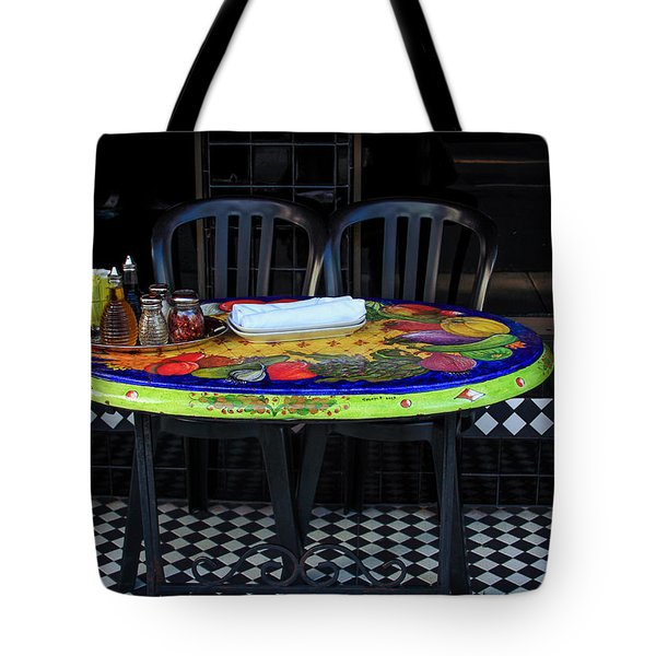 A Cozy Table For Two Tote Bag